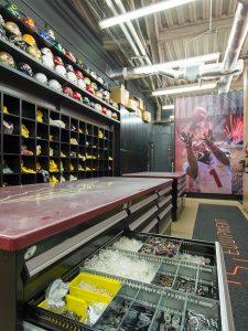 Florida State football equipment storage room