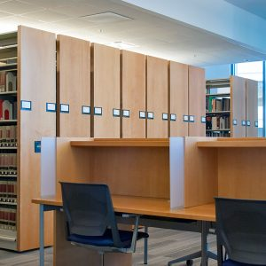 Georgia State University Law Library made room for student study space with mobile shelving