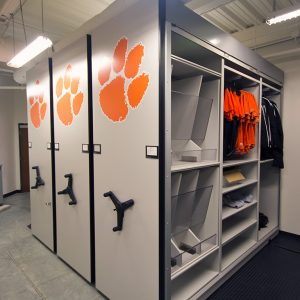Football Gear and Jersey Storage