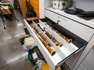 Drawers used for instrument storage