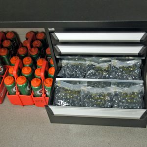 Drawers for Football Equipment Storage