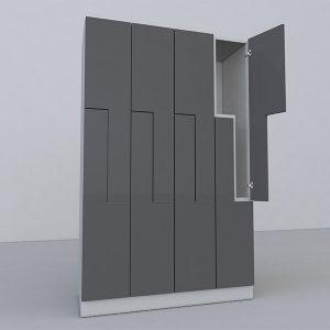Z-locker for single use storage