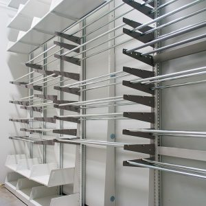 textile storage rack for museum