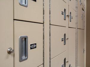 Close up of Evidence Storage Lockers