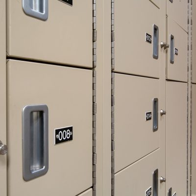 Close up of Evidence Storage Lockers