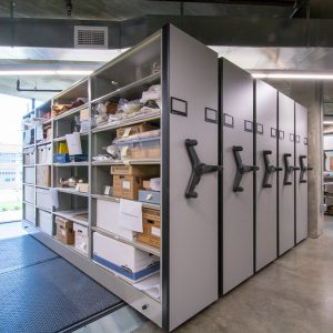 Mobile Shelving in Museum Application