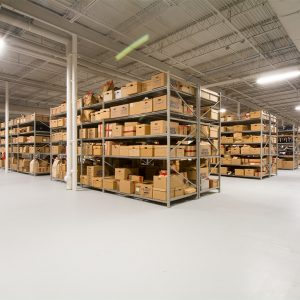 Warehouse storing long-term boxed evidence