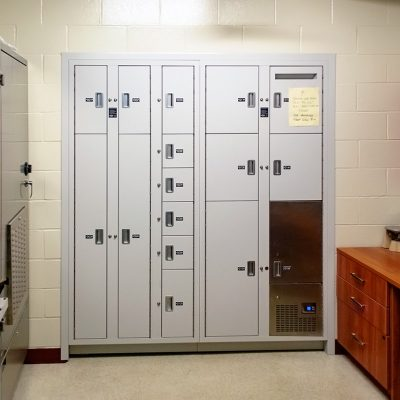 Evidence can be processed and stored in the evidence room