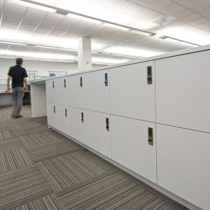 Secure locker storage for employees