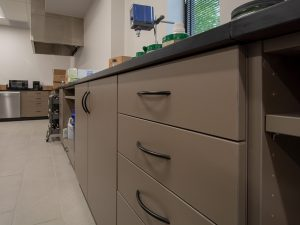 Modular Casework cabinets in lab setting