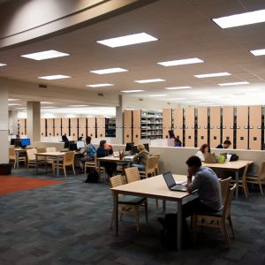 Library stacks make room for more student space