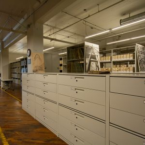 government archives stored in drawers