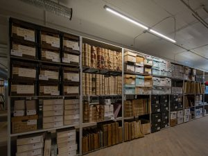 County archives stores collection on open shelving