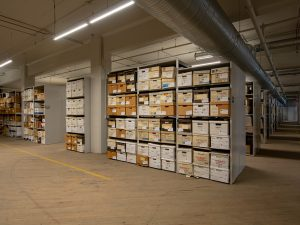 4-Post shelving for archives