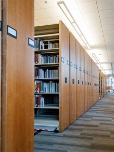 Mobile storage unit in law library