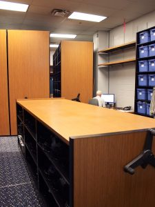 Mobile Shelving Systems Store Football Gear