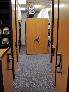 Carolina Panthers Mobile Shelving System
