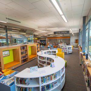 Modular Library Book Shelving