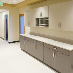 Modular Cabinets and Sorters in hallway