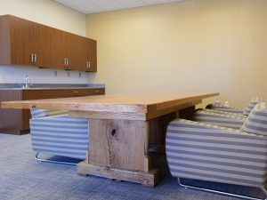 Modular Casework used for storage in a Break Area