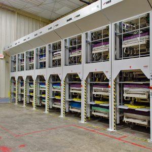 High-density storage for hospital beds