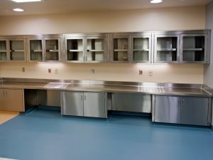 Medical storage in stainless steel modular cabinets