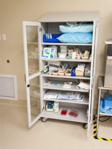 Cabinet on Casters for surgical supplies