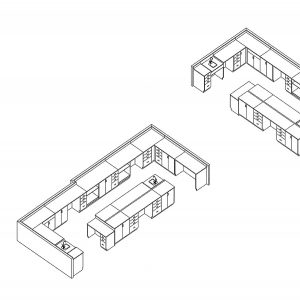Modular Casework Layout