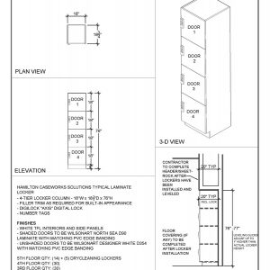 Locker Elevation Drawing