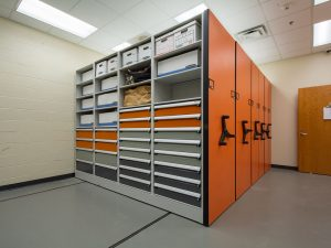 Mobile Shelving to Store Evidence