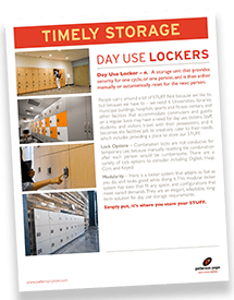 Day-Use Lockers Brochure