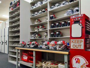 Tampa Bay Bucs Football Equipment Room