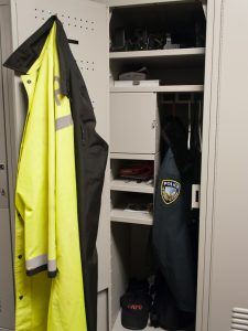 Personal Storage Lockers for Campus Police
