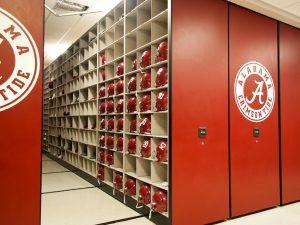 Alabama Crimson Tide Football Equipment Storage Room
