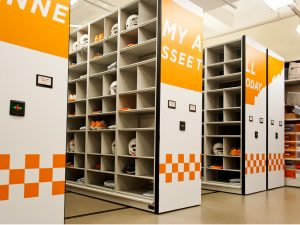 Football Equipment Storage at University of Tennessee