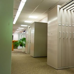 Banks of Tape Cabinets