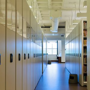 Mobile Library Shelving Saves Space