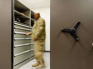 High-density storage for military bases