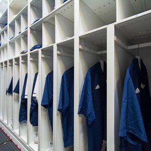 Coach's gear and uniforms storage