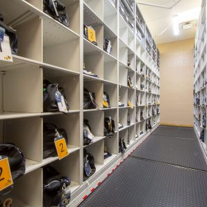 Travel Gear Stored for College Football Team