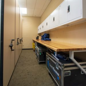 Storage and Workstation for Football Team
