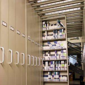Mezzanine Tape Storage
