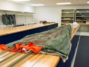 Tables and Cabinet for Military Parachute packing