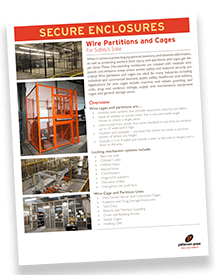 Wire Cages and Partitions Brochure