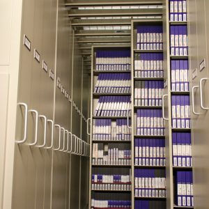 Tapes Stored in Sliding Cabinets