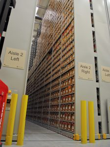 Wake Forest University uses mobile high-bay shelving for off-site library storage