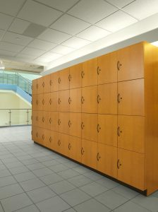 Laminate Lockers on college campus