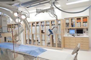 Laminate modular cabinets in operating area