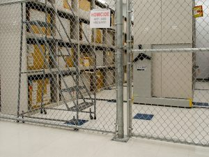 Compact shelving in Evidence storage cage