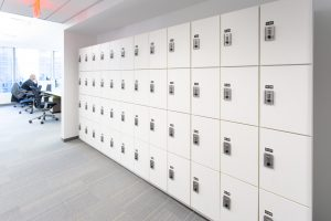 University storage with lockers